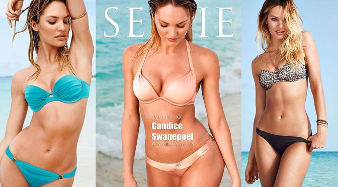 Candice Swanepoel – Selfie Swimsuit 2015 Magazine