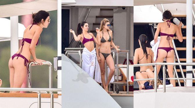Kendall Jenner & Gigi Hadid – Bikini Candids in Monte Carlo