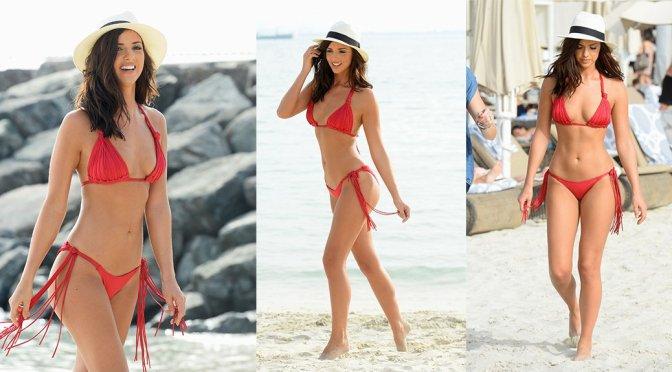 Lucy Mecklenburgh – Bikini Photoshoot Candids in Dubai