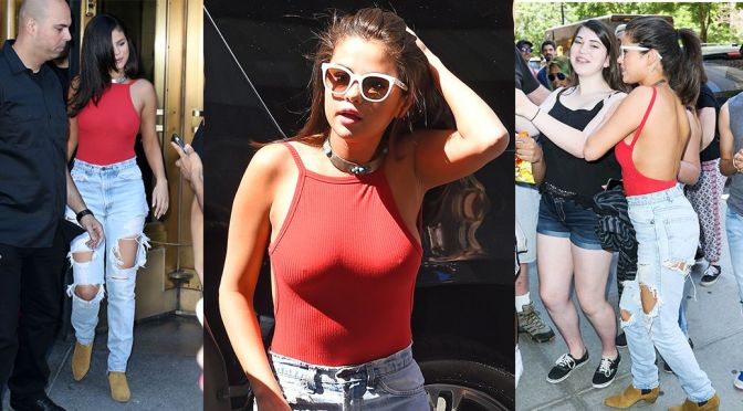 Selena Gomez – Braless Candids in New York City