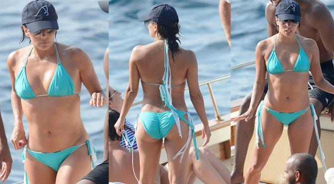 Eva Longoria – Bikini Candids in Capri