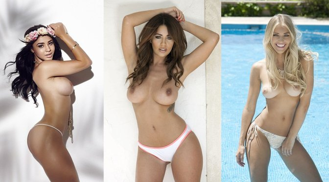 "Courtnie Quinlan, Holly Peers & Nicole Neal – ""Page 3″ Topless Photoshoot"