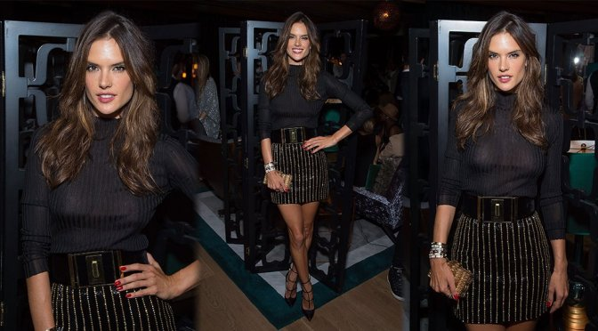 Alessandra Ambrosio – 2015 Brazil Foundation Cocktail Party in New York