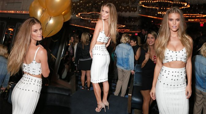 Nina Agdal – BCBG Max Azria Spring 2016 After-Party