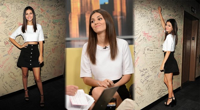 "Victoria Justice on ""Good Day New York"" Show in New York"