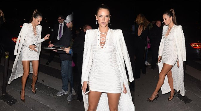 Alessandra Ambrosio – Balmain Fashion Show After Party in Paris