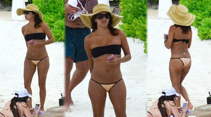 Eva Longoria – Bikini Candids in Cancun