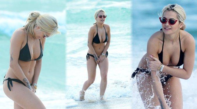 Rita Ora – Bikini Candids in Miami