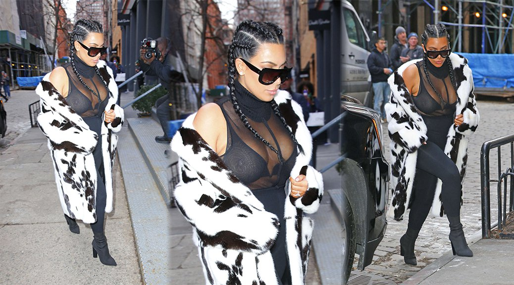 Kim Kardashian - See-Through Candids in New York