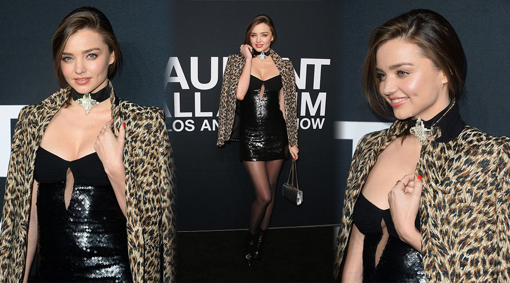 Miranda Kerr - Saint Laurent Fashion Sshow in Los Angeles