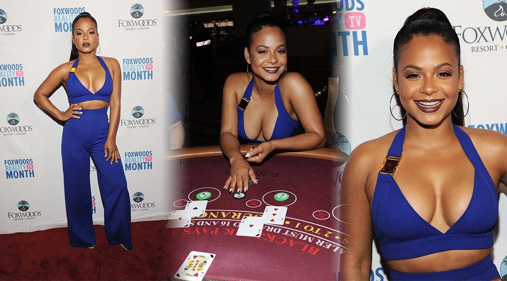Christina Milian at Foxwoods Resort and Casino in Las Vegas