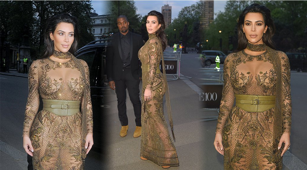 Kim Kardashian - Vogue 100th Anniversary Gala Dinner in London