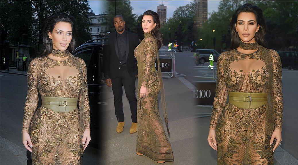 Kim Kardashian - Vogue 100th Anniversary Gala Dinner in London