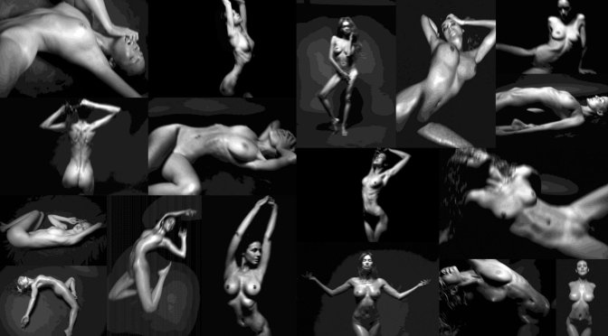 "Various Celebs – Randall Slavin ""Achromatic"" Exhibition (NSFW)"