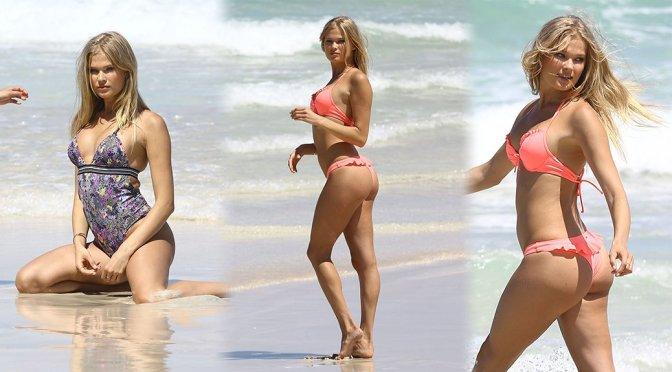 Vita Sidorkina – Victoria's Secret Bikini Photoshoot Candids in Miami