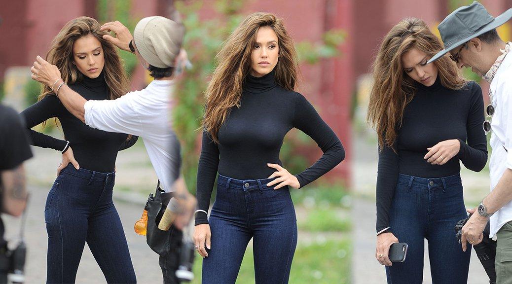 Jessica Alba - Photoshoot Candids in New York