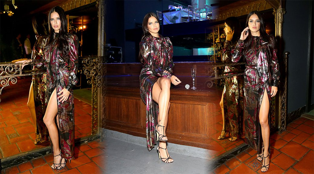 Adriana Lima - Marc Jacobs Divine Decadence Fragrance Dinner in Los Angeles