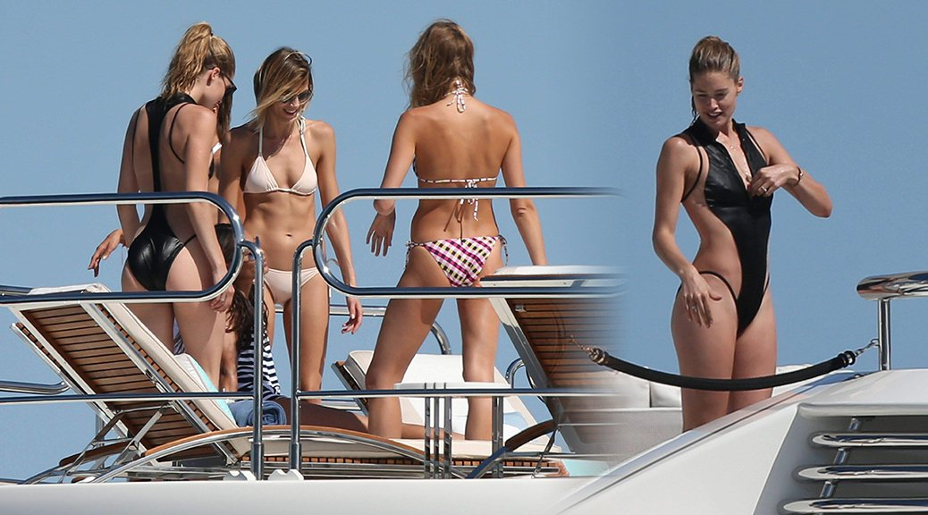 Doutzen Kroes - Swimsuit Candids in France