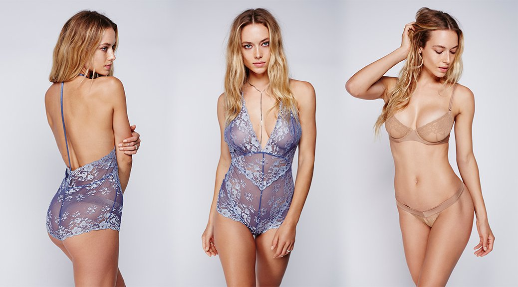 "Hannah Ferguson - ""Free People"" Lingerie Photoshoot"