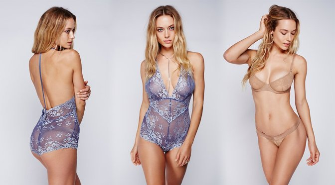 "Hannah Ferguson – ""Free People"" Lingerie Photoshoot"