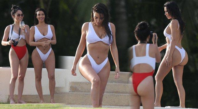 Kim Kardashian – Bikini Candids in Mexico