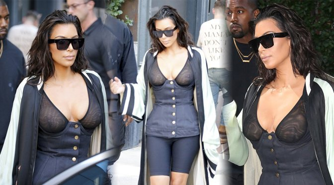 Kim Kardashian – See-Through Candids in New York