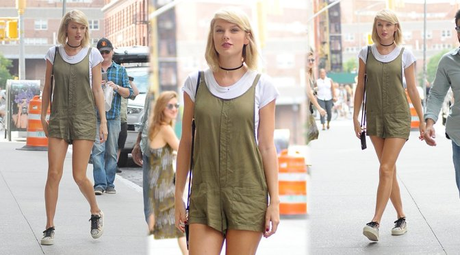 Taylor Swift – Leggy Candids in New York