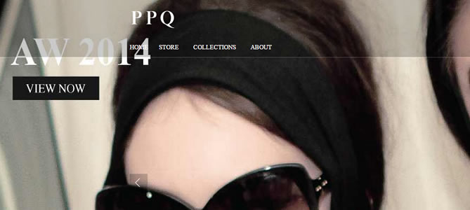 PPQ London : Fashion Designer Website
