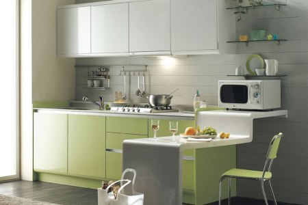 green kitchen is perfect choice for a kitchen wall and cabinets color 4