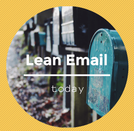 lean email communication graphic for illustration