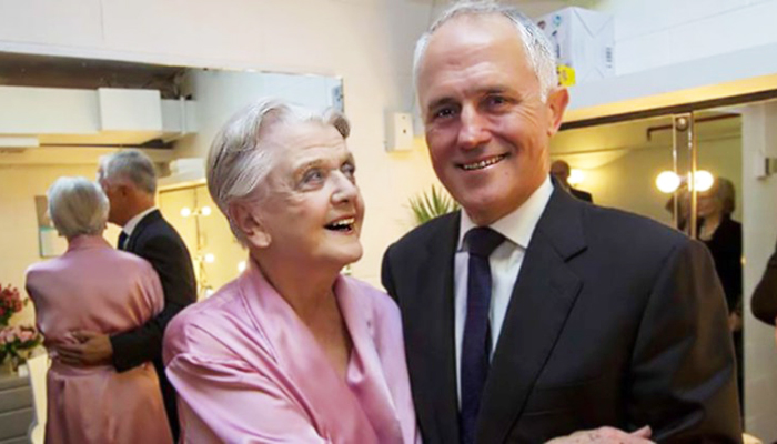 Malcolm Turnbull and Angela Lansbury