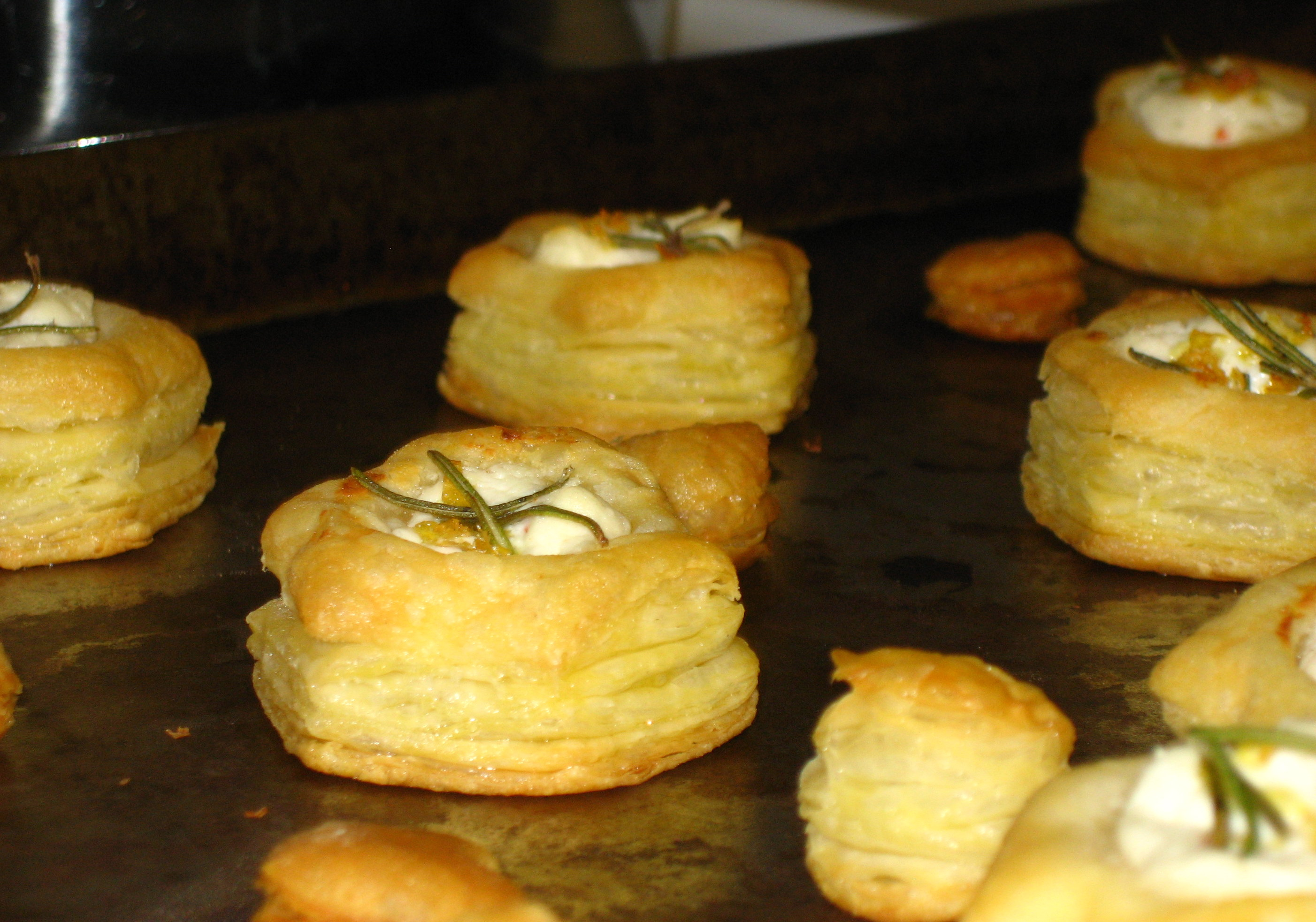 Puff Pastry Goat Cheese Bites with Rosemary and Lemon ...