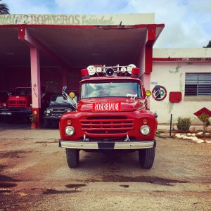 old Cuban fire truck