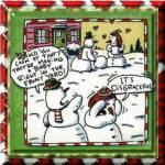 Naughty snowmen
