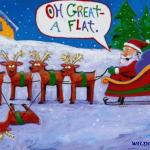 Santa's got a flat