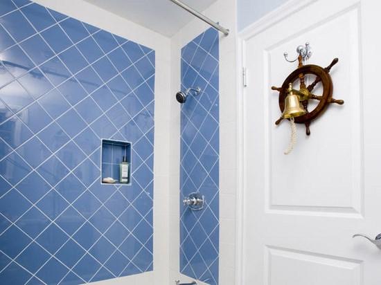 Bagno blu e bianco modelos de casas fotoks