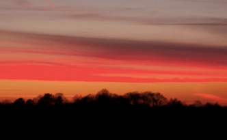 Sunset in Surrey England - feature image