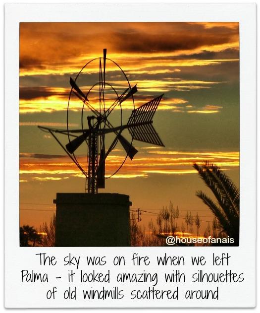 Windmills on fire