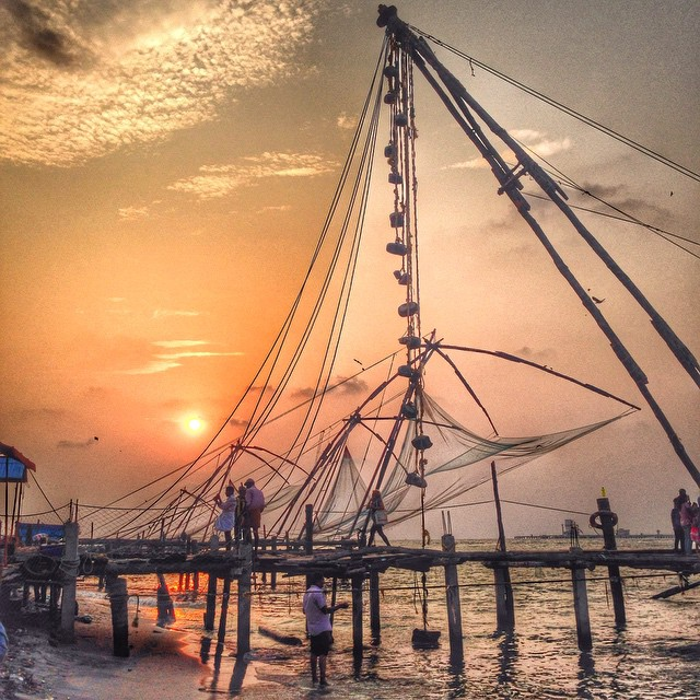 Sunset in Cochin