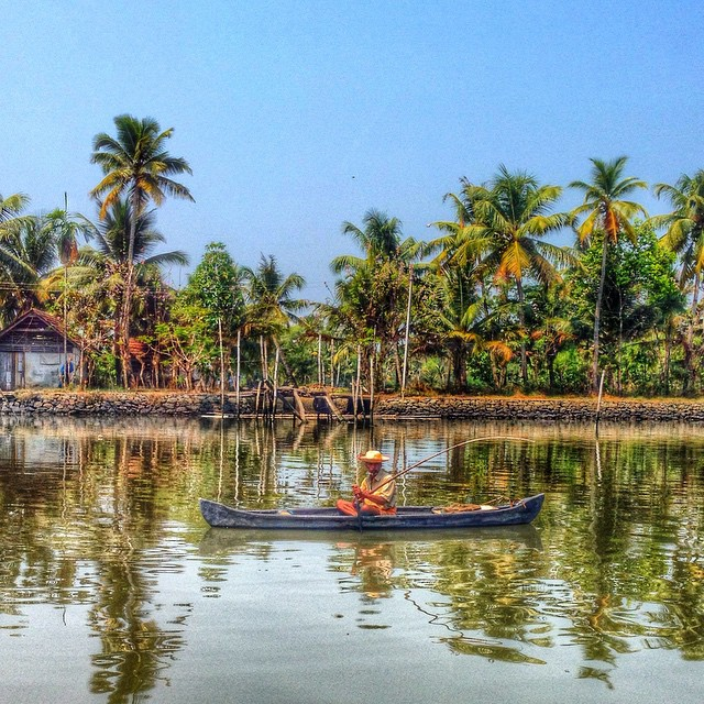 Backwaters fisherman