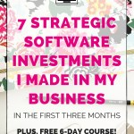 7 Strategic Software Investments I Made in my Business in the First Three Months