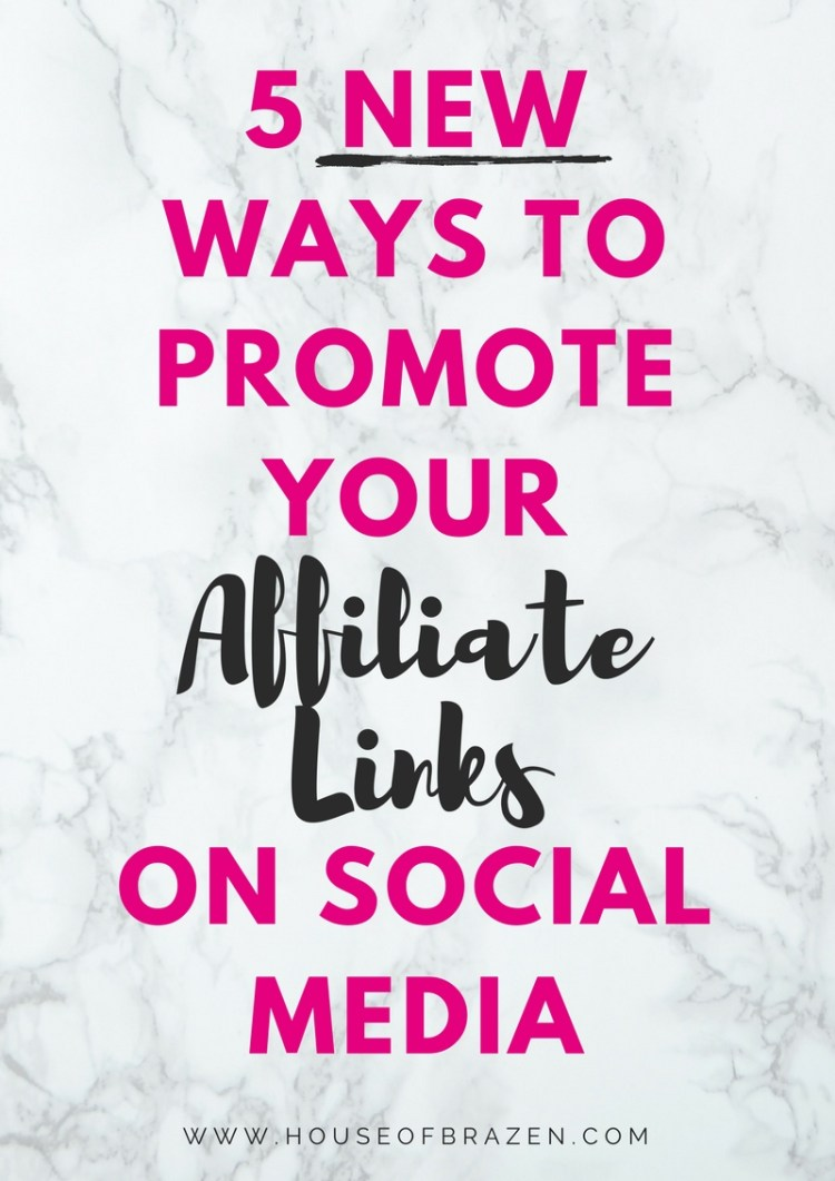5 New Ways to Promote Affiliate Links on Social Media