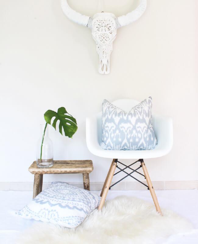 Indian block print cushions by Shenouk