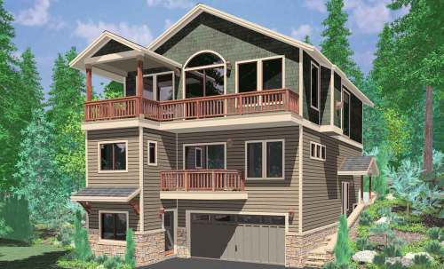 Cosmopolitan Narrow Lots House Plans Small Lots Small House Plans Sloping Level House Three Narrow Lot House Building Small Houses Narrow Lots On Pilings House House Plans