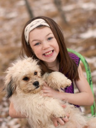 Hannah and her Shichon, Juliette