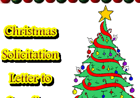 Sample Christmas Solicitation Letter to Suppliers