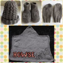 Baby Bundle – Booties, Hat, Blanket & Mittens