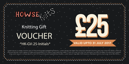 HowseKnits Gift Voucher – Send by Email