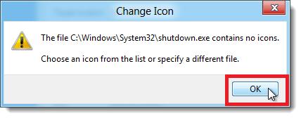 shut down icon message