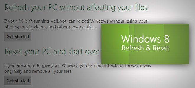 How to Refresh Windows 8 / Reset on Laptop, Computer
